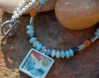 S A L E !!! - Venice Necklace, OOAK, Gifts for Women, Amazonite Necklace