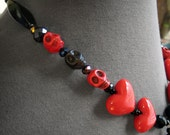 Hearts & Skulls Statement Jewellery, heart and skull statement necklace, love necklace