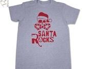 Santa Rock T-Shirt - Men's/Teenager Christmas Shirt