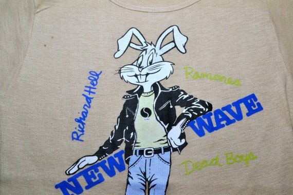 1970s Ramones New Wave T-Shirt Richard Hell Saints Dead Boys Sire Talking Heads Bugs Bunny