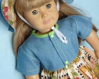 American Girl Doll Clothes for 18 in vinyl doll. American Girl Doll, Generation Doll, Journey Doll Madame Alexander Doll.