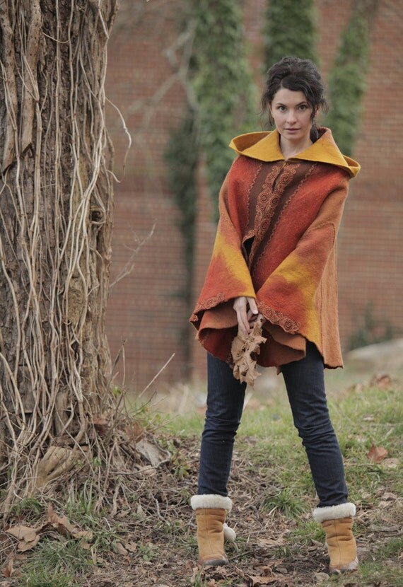 """Template for the Poncho """"Legends of the Fall"""" (digital file) with instructions"""