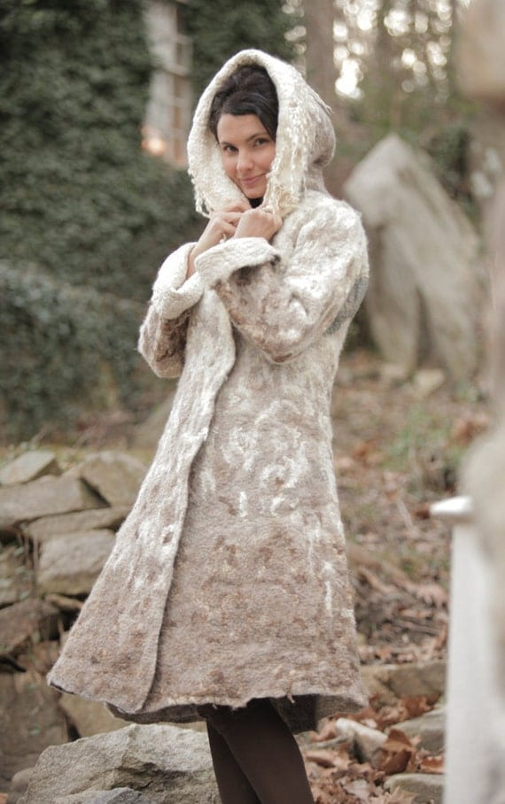 "Felted Coat Template ""Winter Story"". For felting with instructions"