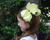 Girls hair bows, Yellow boutique hair bow, Girls hair bows, You choose color Twisted boutique hair bow Custom hair bows