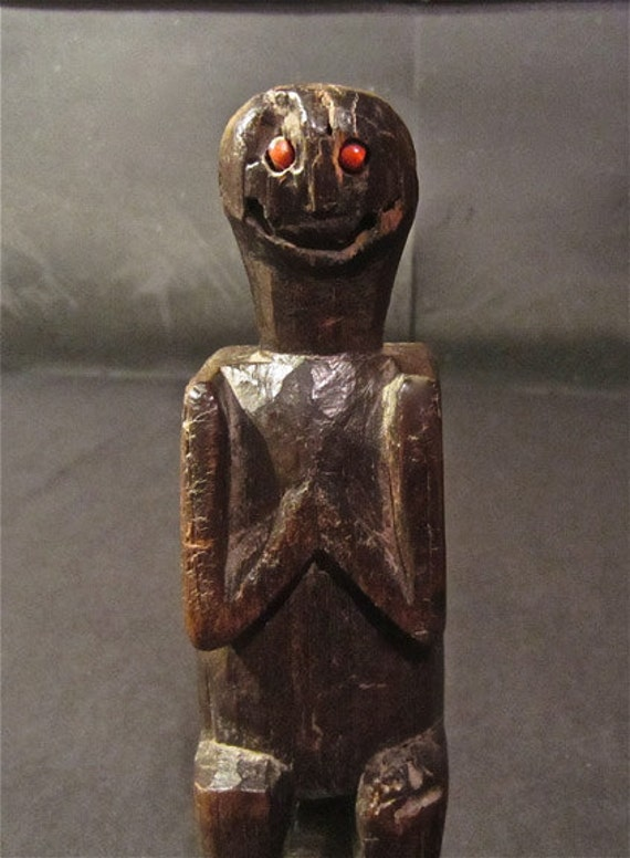 NOT for SALE Reserved for Client Grinning Praying Rustic Totem