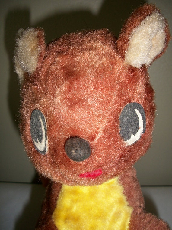 Vintage retro adorable sitting stuffed toy squirrel collectable Stuffed Animal Home Decor Babies Room Childs Room Display