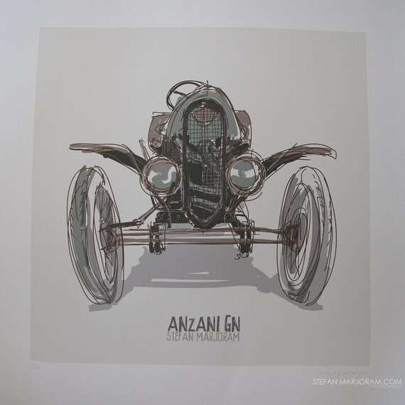 Anzani GN - Vintage Trials Car - Limited Edition Art Print