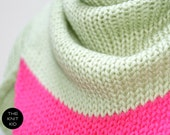 INSTANT SHIPPING! pastel green pink triangle scarf merino theknitkid