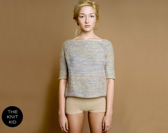 knitted sweater pastel colorful merino cotton theknitkid