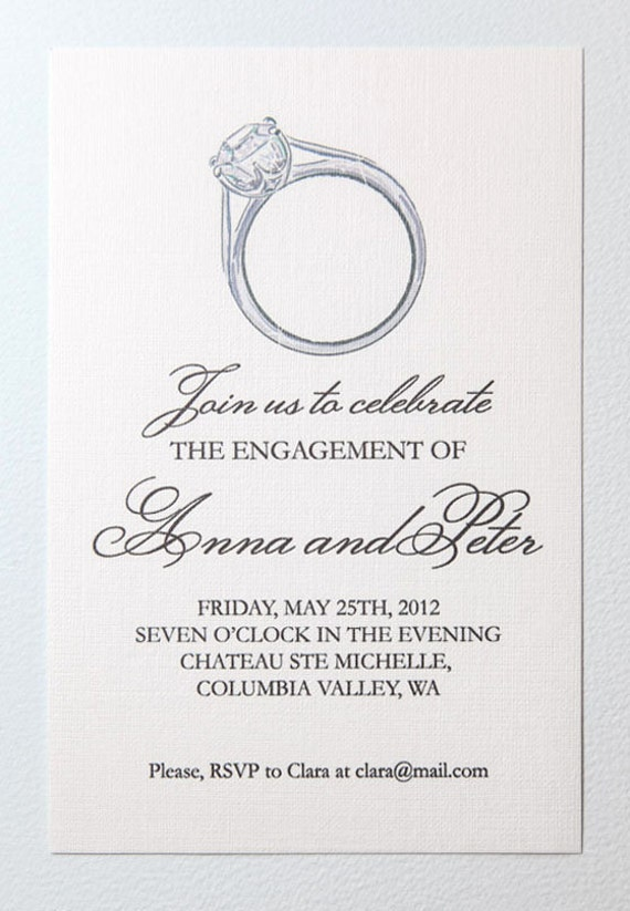 Items similar to printable engagement party invitation on etsy for Wedding engagement party invitations