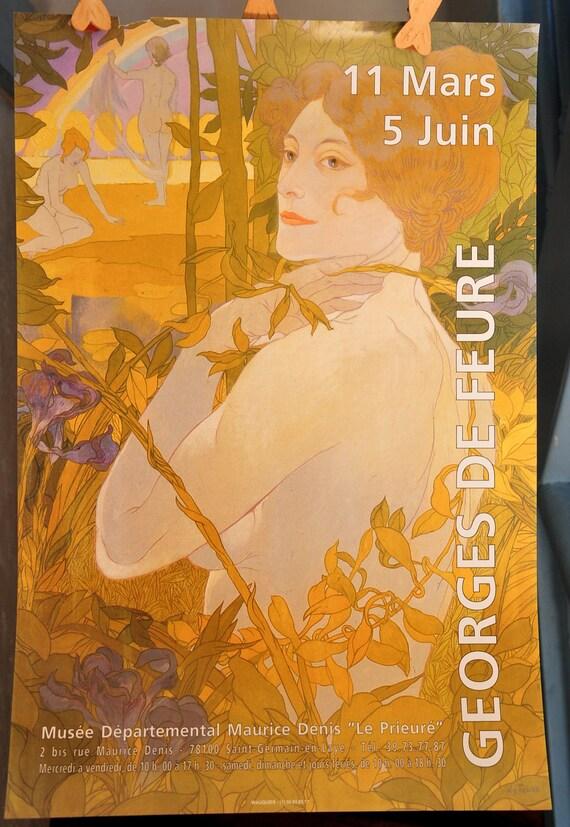 Museum du Prieure Ad Print for an Exhibition on Georges de Feure - France
