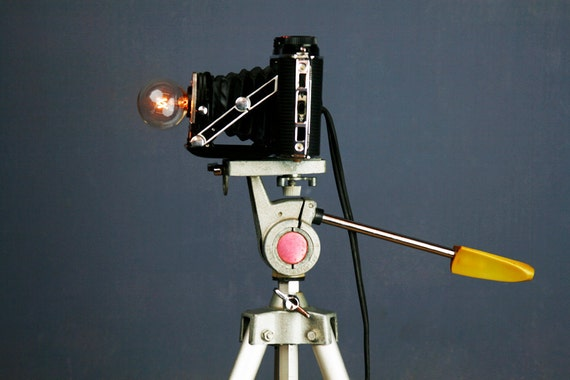 On Sale Now 150 Handmade Upcycled Vintage Camera Lamp