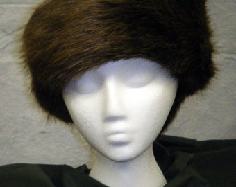 Beaver Pillbox Hat