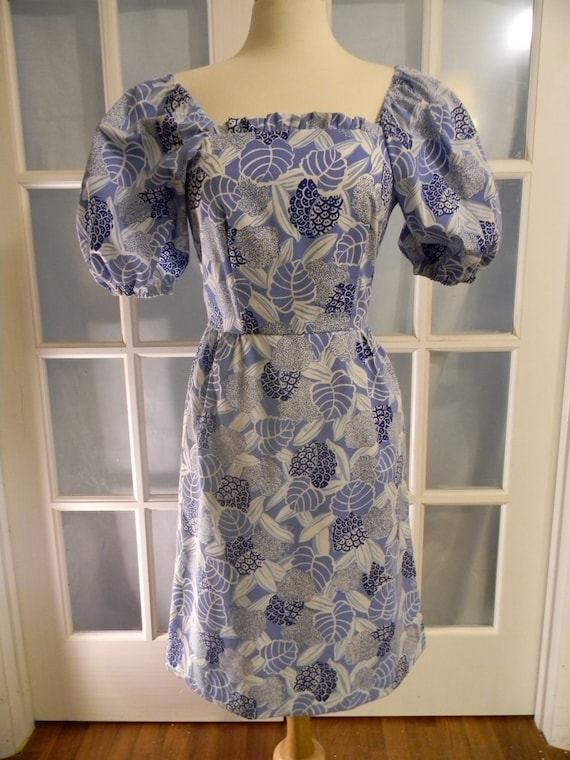 RESERVED Vintage The Vested Gentress Big Puff Sleeves Fitted Dress