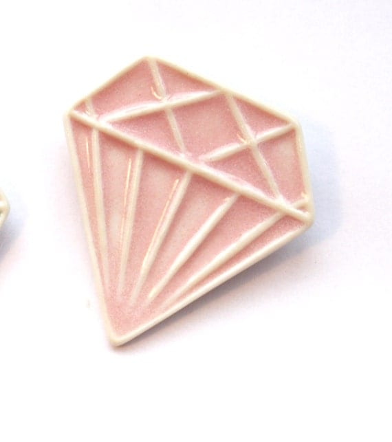Porcelain Jewel Brooch