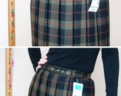 New Old Stock Pleated Scottish Skirt With Tags