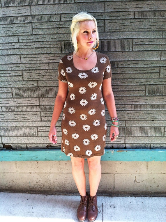 SALE Stretchy Retro Pop Art Body Con Dress Floral Print