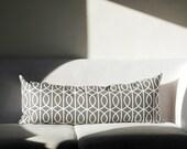 Lumbar Pillow cover - Grey dwell studio - 14x36   0202