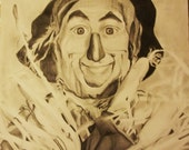The Wizard of Oz- Scarecrow portrait drawing