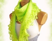 Knitted scarf , women scarves. Personalized Design. scarf, neckwarmer, scarflette... Pistachio green