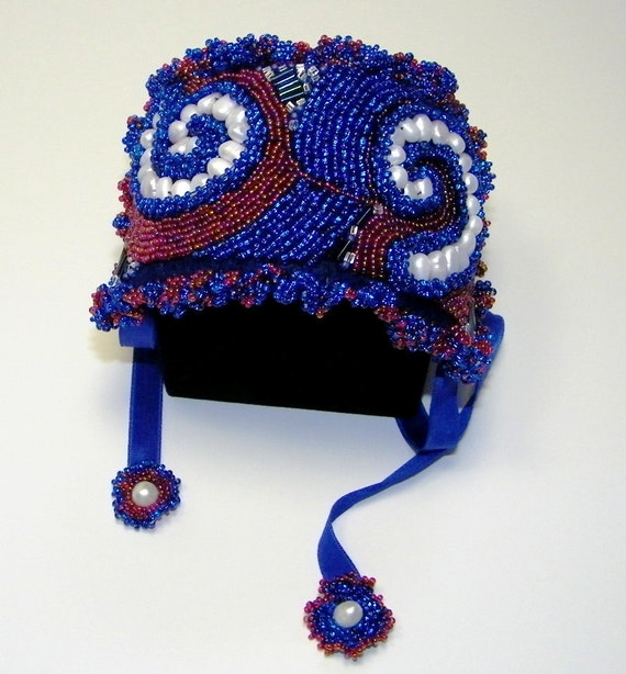 Blue and Red Wave Cuff