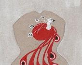 RESERVED for Miska Paulorinne - Heartbird (original painting, 2012)