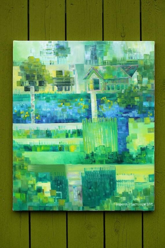 Pixel art - game art - geek art - pixel painting - game painting - geek painting - contemporary painting - Pixel Garden - pixelism