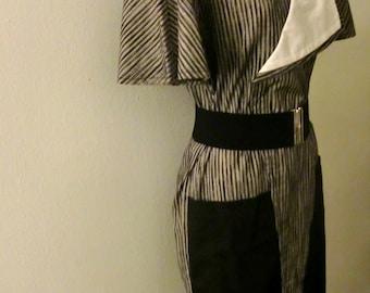 Vintage Geometrically Crazed Dress