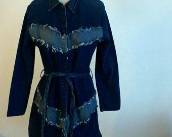 90s Vintage Divine Denim Two-Toned Jacket 1XL