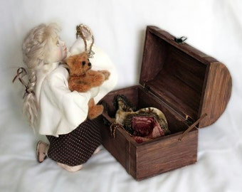 Grandmother's chest. Living Doll OOAK doll composition.
