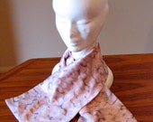 Vintage 1930s 'Dusty Pink Clouds' Scarf