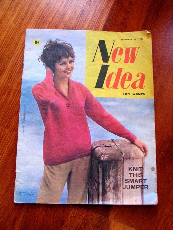 Vintage 1962 Australian New Idea Magazine - February 14