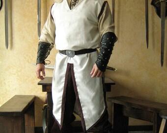Medieval Celtic Viking Wizard Assassin Hooded Surcoat