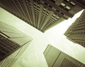 New York Photography, NYC Fine Art Photography, Print Canvas or Photo Paper Skyscrapers Upside-down Black and White, 8x10 or 8x12