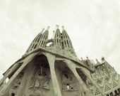 Barcelona Sagrada Familia, Fine Art Print Photography Cathedral, Black and White Photography, Spain Architecture, Famous Buildings, Any Size
