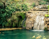 Fine Art Photography, Autumn Photography, Wall Art Krushuna Waterfalls 8x10 or 8x12 woodland emerald green gold