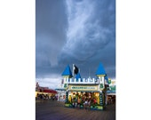 Casino Pier Games, Jersey Shore Fun, Carnival Photo - Amuzement Games and Storm Apporaching, Art Print 12x8 circus