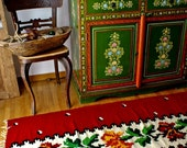 Vintage Handwoven Oriental Rug / Runner, Vintage Handmade Rug / Runner 6.3 ' x 2.3 ' (200cm X 70cm)