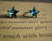 Astraea- genuine Swarovski crystal stars sterling silver studs