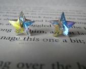 Polaris Genuine Swarovski crystal stars and sterling silver( rhodium plate) stud earrings