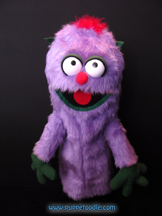 Purple Monster Hand Puppet (47.5cm)