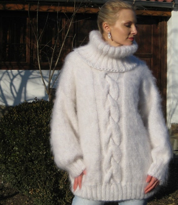Made to order hand knitted mohair sweater by SuperTanya