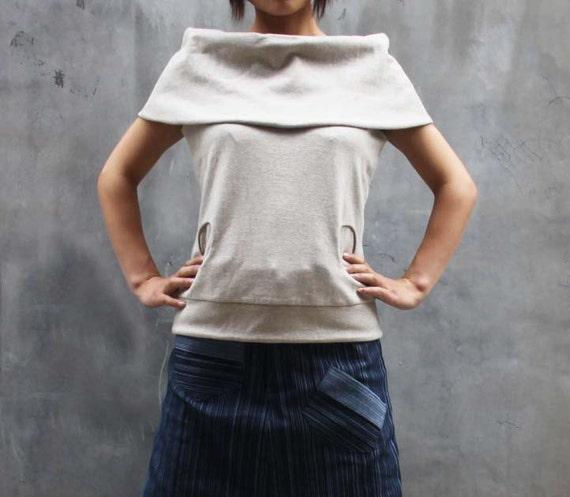big collar T-shirt  knit shirt