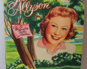 On Clearance - Vintage paper doll - June Allyson Copyright 1955  Whitman 1956