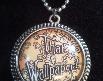 Bookish necklace, Victoriana: The Yellow Wallpaper