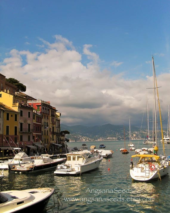 Italian Riviera photo, Sailboat print, Italy travel photo, Portofino, 8x10, nautical, gift under 50, Mediterranean, Yacht photo, Marina