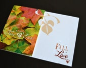 Fall in Love Bridal Shower Invitation | Autumn - or - Fall Bridal Shower