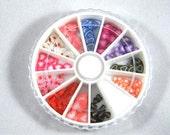Hearts Valentine's Day Fimo Cane Slice Nail Art Wheel