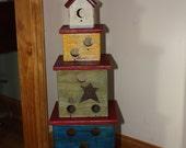 Birdhouse, Tower. Ready to ship.