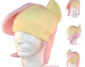 Yellow and Pink Pony Hat